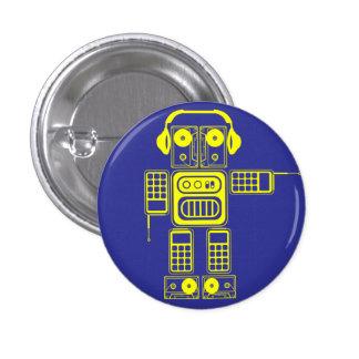 Retro Vintage Toy Robot (Yellow / Blue) Flair 3 Cm Round Badge