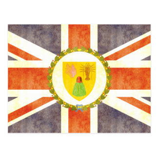 Retro Vintage Turks and Caicos Islands Flag Postcard