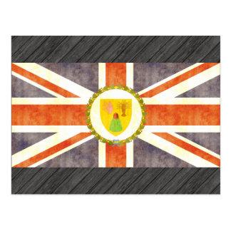 Retro Vintage Turks and Caicos Islands Flag Post Card
