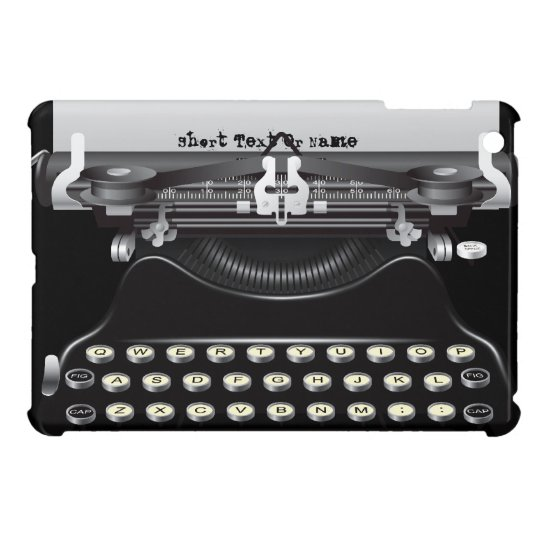 Retro Vintage Typewriter Machine iPad Mini Case
