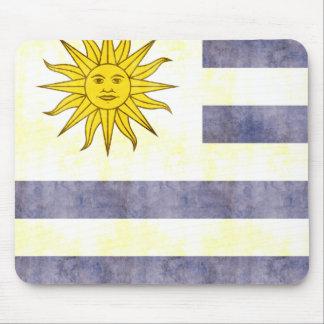 Retro Vintage Uruguay Flag Mousepad