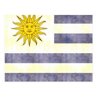 Retro Vintage Uruguay Flag Postcard