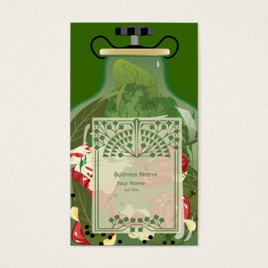 Retro Vintage Vegetable Business  Business Card