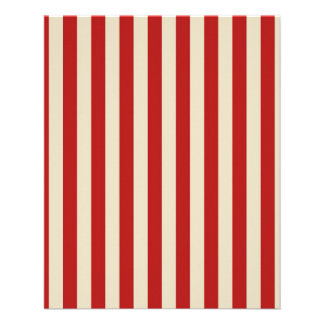 Retro Vintage Vertical PopCorn Classic Stripes 11.5 Cm X 14 Cm Flyer