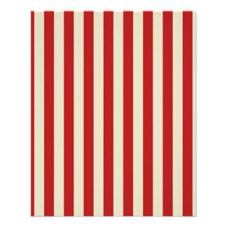 Retro Vintage Vertical PopCorn Classic Stripes 11.5 Cm X 14 Cm Flyer