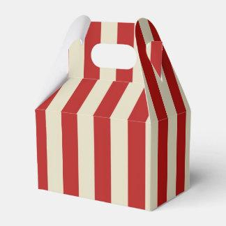 Retro Vintage Vertical PopCorn Classic Stripes Favour Box