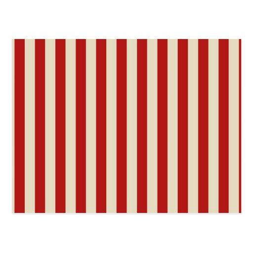 Retro Vintage Vertical PopCorn Classic Stripes Post Card