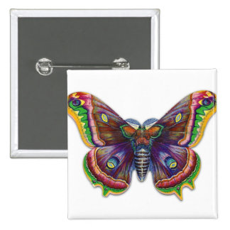 Retro Vintage Victorian Butterly Illustration 15 Cm Square Badge