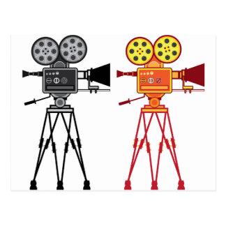 Retro Vintage Video Projector Camera Movie Vector Postcard
