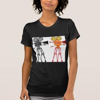 Retro Vintage Video Projector Camera Movie Vector T-shirt