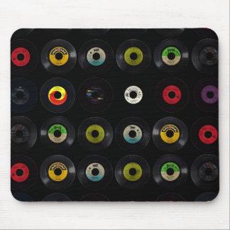 Retro Vintage Vinyl 45 Records Mouse Mat