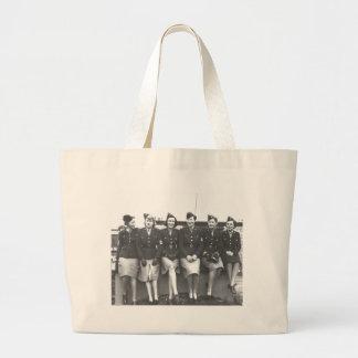Retro Vintage Women in Uniform Military Women Bag