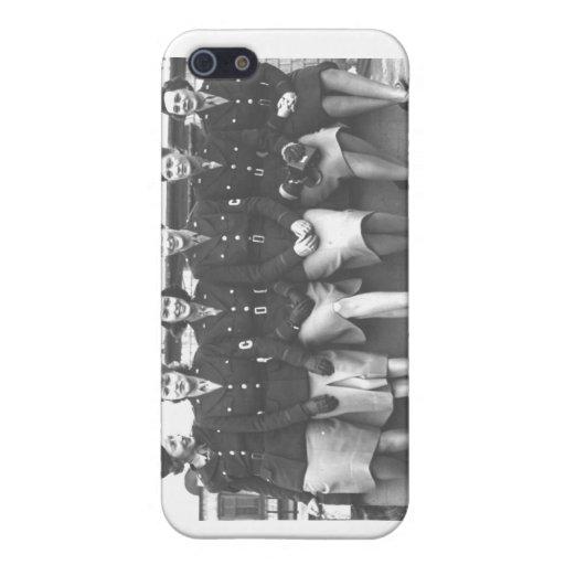Retro Vintage Women in Uniform Military Women iPhone 5 Cover