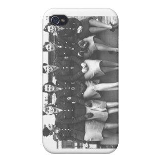 Retro Vintage Women in Uniform Military Women iPhone 4/4S Covers