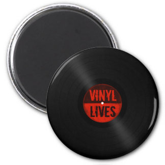 Retro Vinyl Lives Magnet