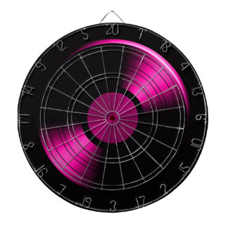 Retro Vinyl Record Album Dartboard