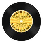 Retro Vinyl Record Birthday Party Invitation Invite