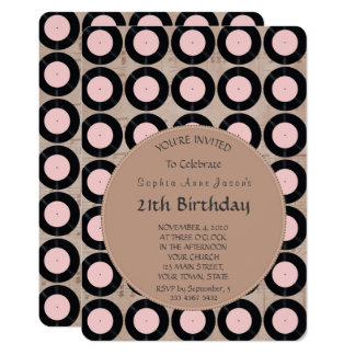 Retro Vinyl Record Birthday Party Invitation