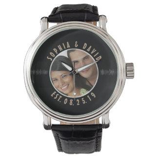 Retro Vinyl Record Photo Custom Wedding Keepsake Wrist Watches