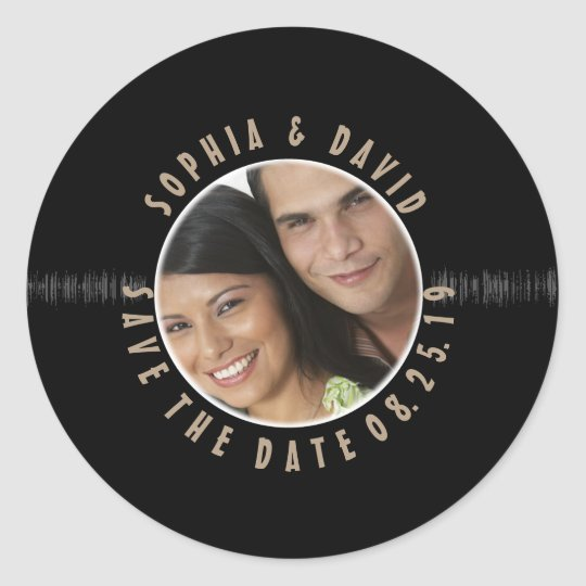 Retro Vinyl Record Wedding PHOTO SAVE THE DATE