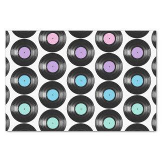 "Retro Vinyl Records Colorful Pattern Design 10"" X 15"" Tissue Paper"