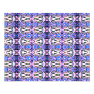 Retro Violet Grey Design. Geometric Pattern 11.5 Cm X 14 Cm Flyer