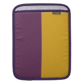 Retro Violet Orange Bicolor Pattern iPad Sleeve