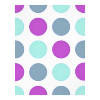 Retro Violet Teal Polka Dots Personalized Flyer