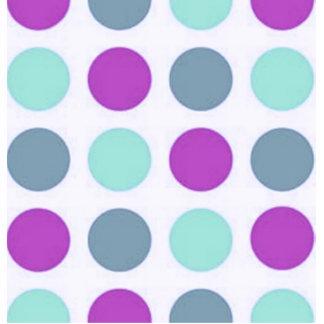 Retro Violet Teal Polka Dots Cut Outs