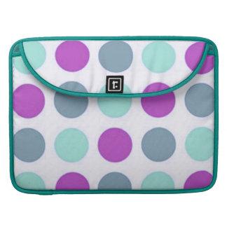 Retro Violet Teal Polkadot Macbook Pro Flap Sleeve MacBook Pro Sleeve