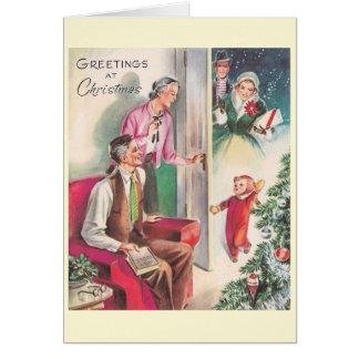 Retro Visit to Grandparents' House Christmas Card