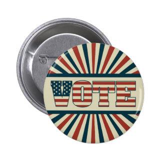 Retro voting gear 6 cm round badge