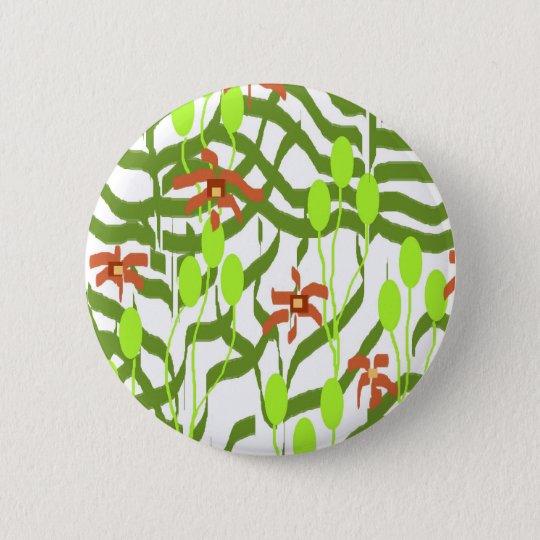 Retro Wallpaper - Broadhurst inspired 6 Cm Round Badge
