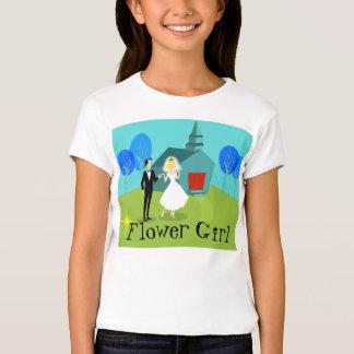 Retro Wedding Couple Flower Girl T-Shirt