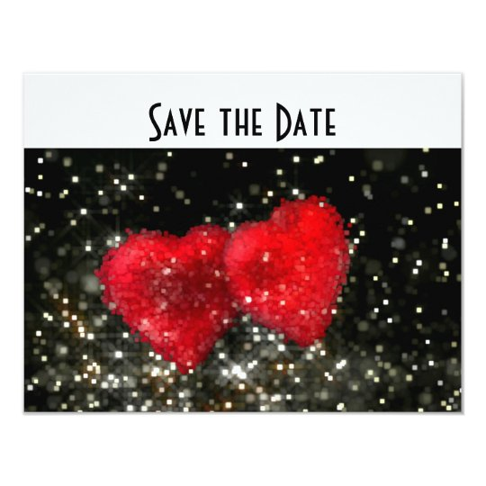 Retro Wedding Hearts Glitter  / House-of-Grosch Card