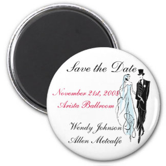 Retro Wedding, Save the Date - Customized Magnet