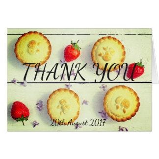 Retro Wedding Thank You Card with cupcakes
