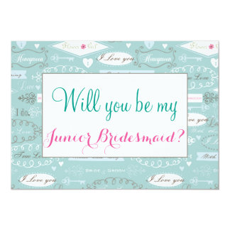 Retro Wedding Will You Be Junior Bridesmaid Card