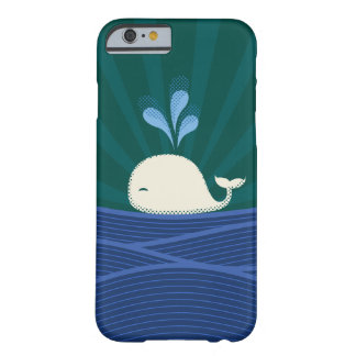 Retro Whale Barely There iPhone 6 Case