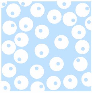 Retro white and light blue pattern photo cutout
