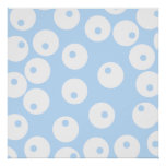Retro white and light blue pattern. print