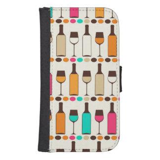 Retro wine bottles and glasses