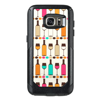 Retro wine bottles and glasses OtterBox samsung galaxy s7 case