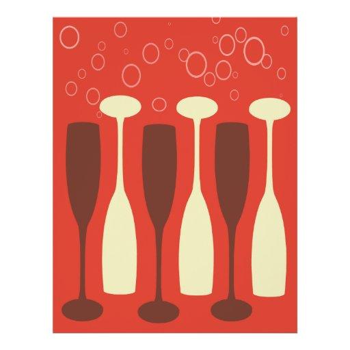 Retro wine glass design flyer design