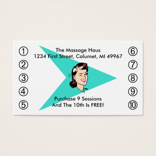Retro Wink Business Punch Cards Any business
