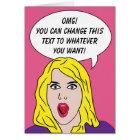 RETRO WOMAN custom greeting card