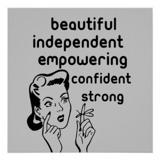 Retro woman finger bow empowering women Posters