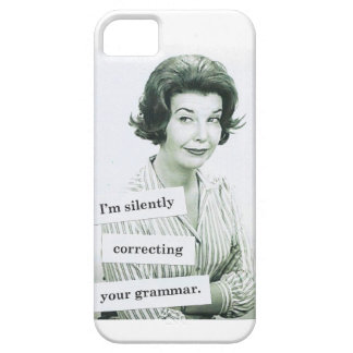 Retro Woman iPhone 5 Case, Grammar Teacher iPhone 5 Cover