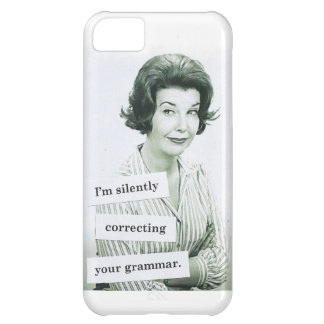 Retro Woman iPhone 5 Case, Grammar Teacher iPhone 5C Case