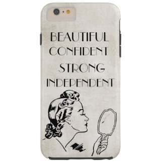 Retro Woman Mirror Beautiful,Strong...iPhone6 Plus Tough iPhone 6 Plus Case